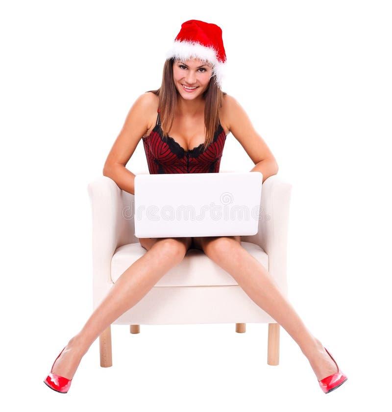 Escrita a Papai Noel foto de stock