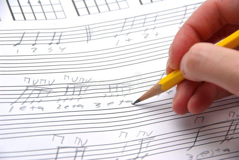 Escrita superficial da música. fotos de stock
