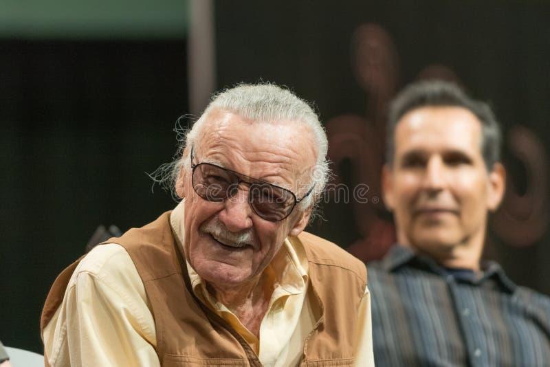 Escritor da banda desenhada de Stan Lee American foto de stock royalty free