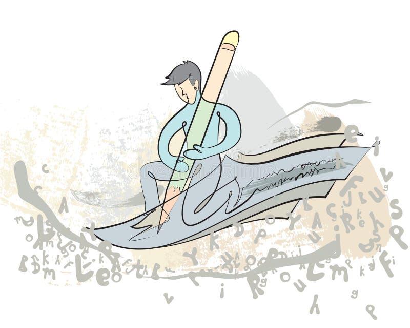 Escritor del artículo del vector libre illustration