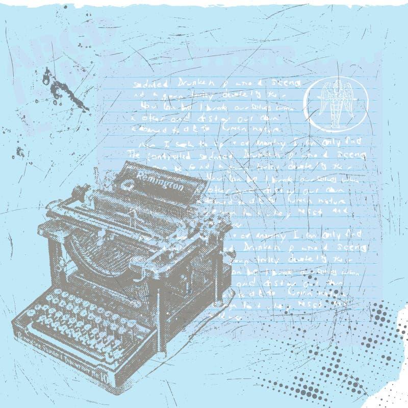 Escritor do rascunho ilustração do vetor