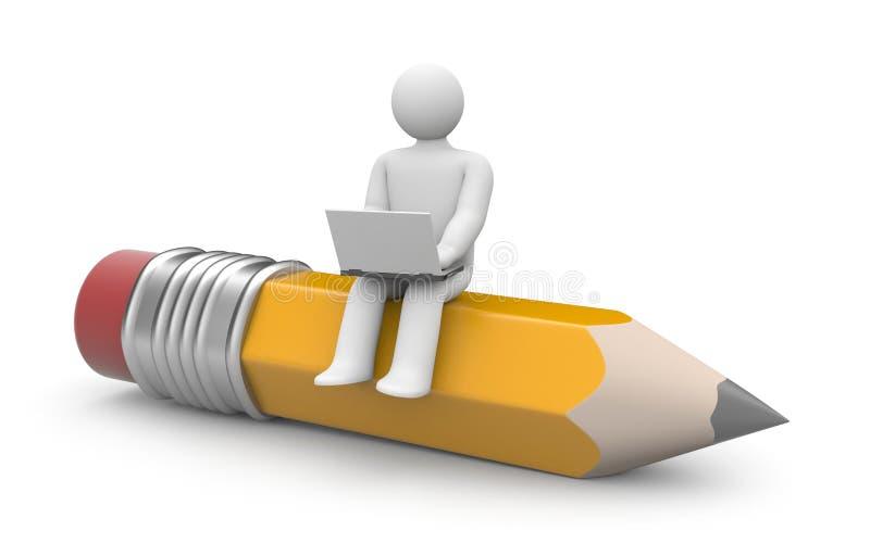 Escritor (ou blogger) ilustração stock