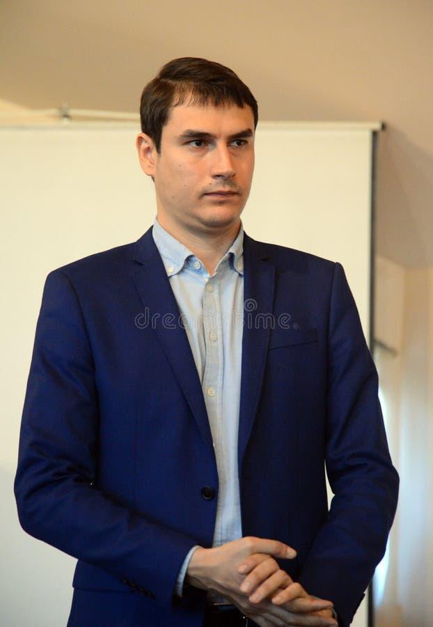 Escritor russo Adjunto da Duma do Estado da Assembleia Federal da Federação Russa VII convocatória Sergey Shargunov foto de stock royalty free
