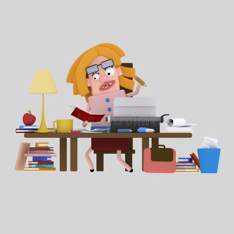 Escritor y reserarcher 3D libre illustration