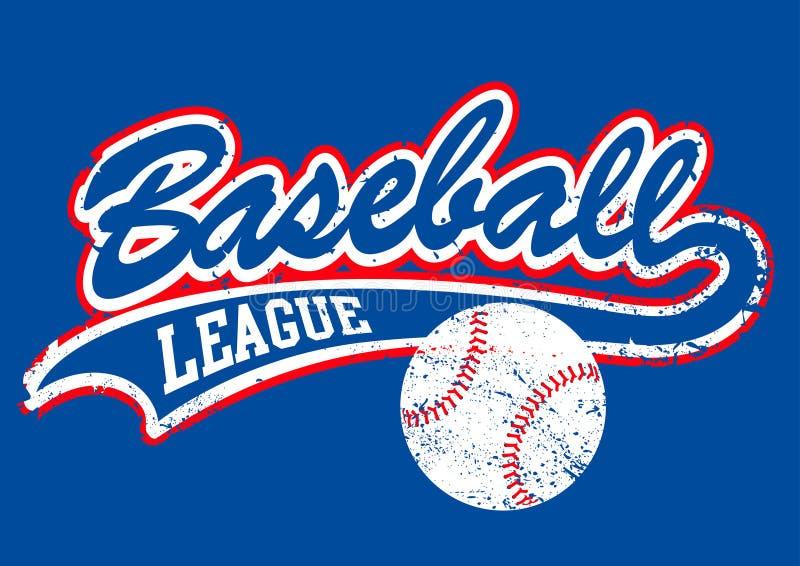 Escritura apenada del béisbol con un béisbol ilustración del vector