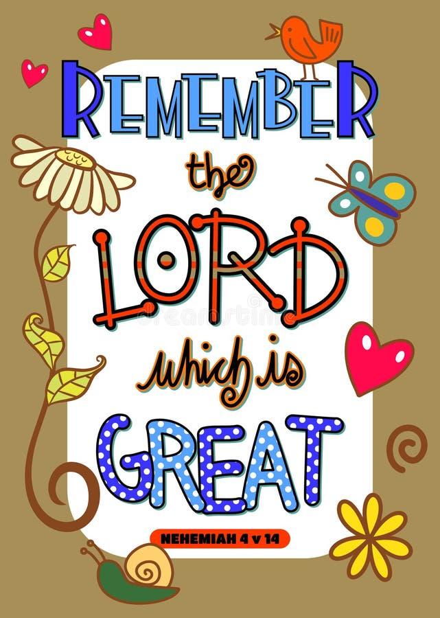 Escritura Art Poster da Bíblia ilustração do vetor