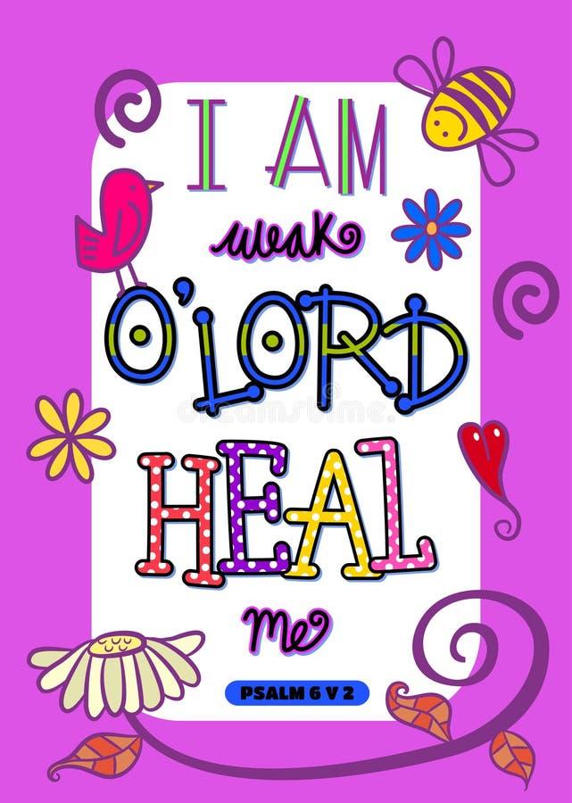 Escritura Art Poster de la biblia ilustración del vector
