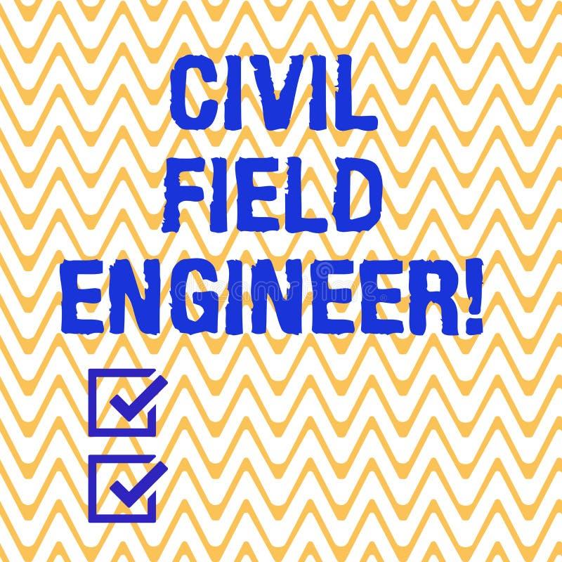 Escritura conceptual de la mano que muestra al técnico de mantenimiento civil El texto de la foto del negocio supervisa la constr stock de ilustración