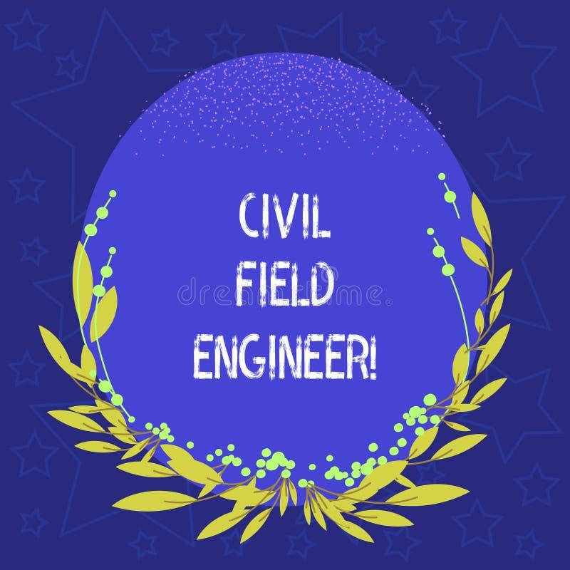 Escritura conceptual de la mano que muestra al técnico de mantenimiento civil La exhibición de la foto del negocio supervisa la c libre illustration
