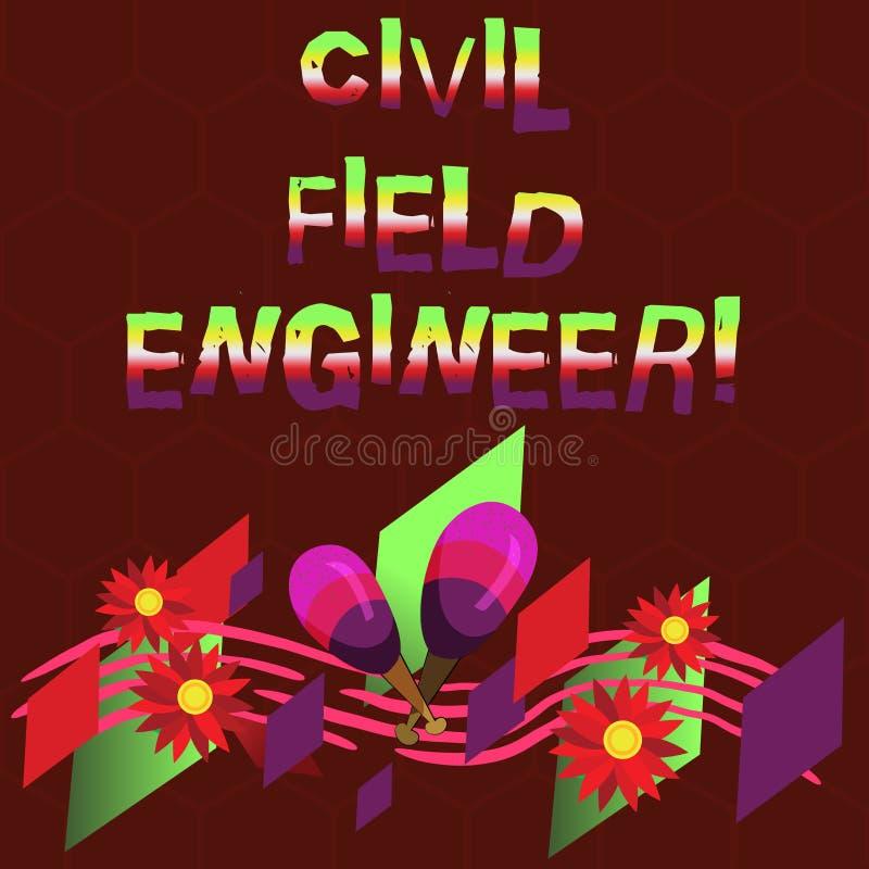 Escritura conceptual de la mano que muestra al técnico de mantenimiento civil La exhibición de la foto del negocio supervisa la c ilustración del vector