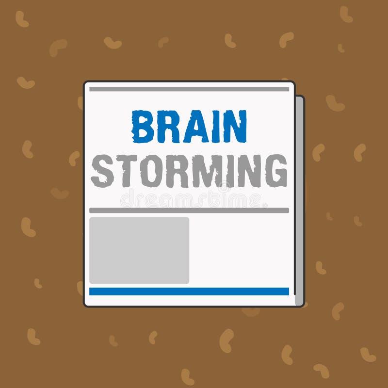 Escritura conceptual de la mano que muestra a Brain Storming Texto de la foto del negocio que estimula discusión de las ideas del imagen de archivo