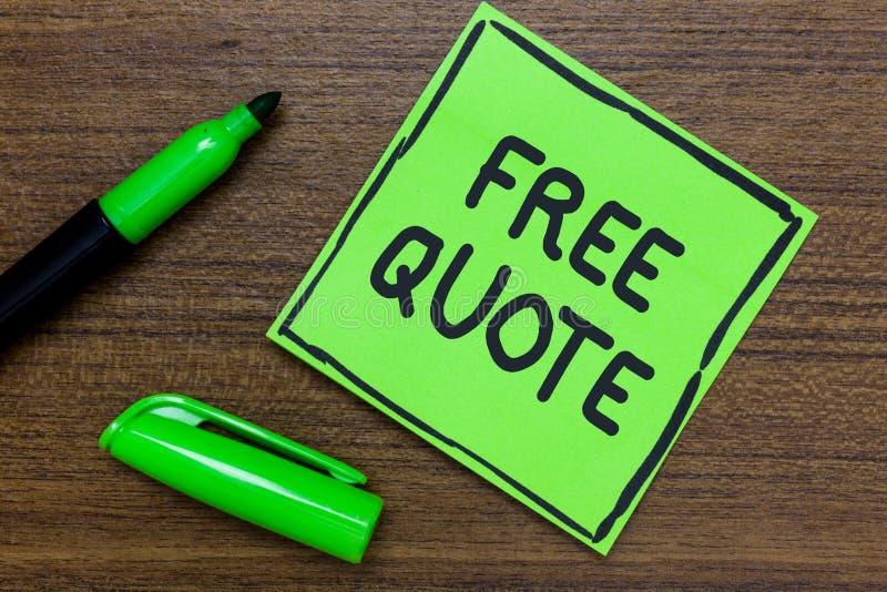 Escritura conceptual de la mano que muestra cita libre La foto del negocio que muestra la breve frase de A que es tiene generalme foto de archivo