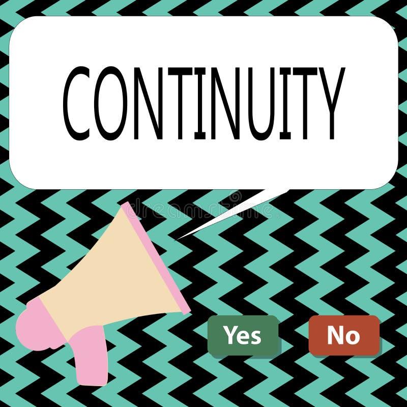Escritura conceptual de la mano que muestra continuidad Operación constante intacta de la existencia del texto de la foto del neg stock de ilustración