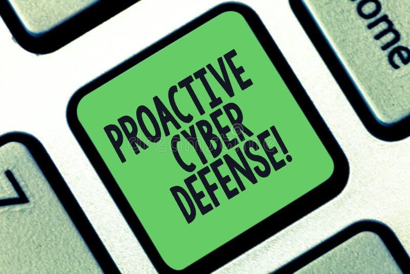 Escritura conceptual de la mano que muestra la defensa cibernética dinámica Anticipación del texto de la foto del negocio para op ilustración del vector