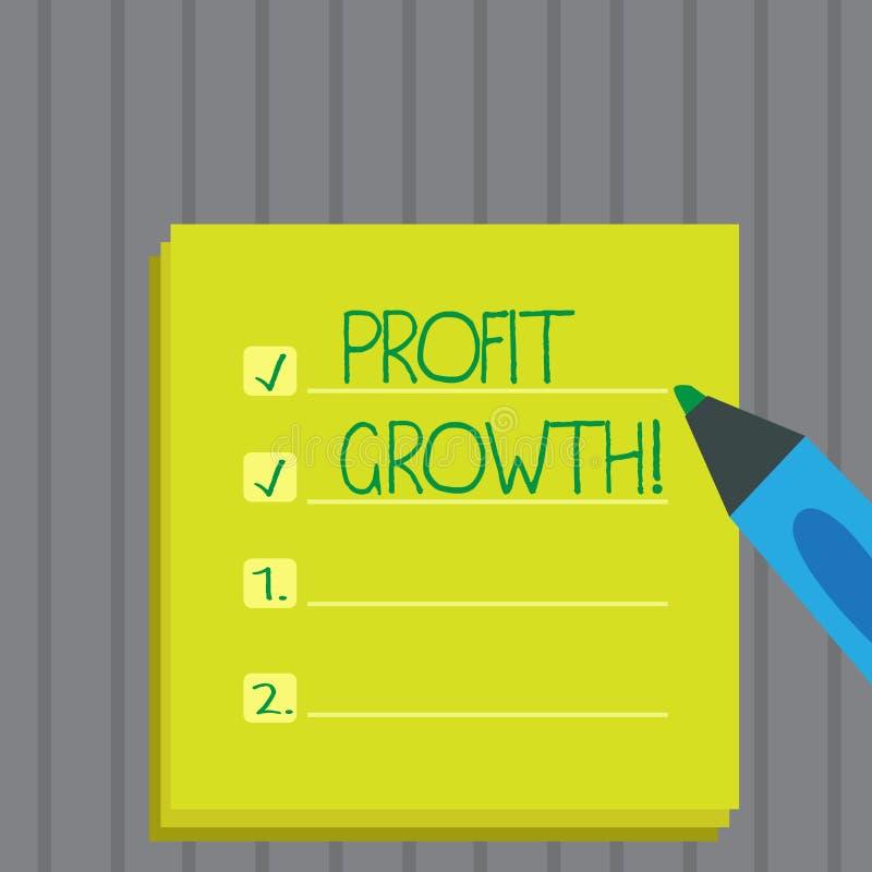 Escritura conceptual de la mano que muestra el aumento de beneficios Foto del negocio que muestra la evolución creciente éxito fi imagenes de archivo