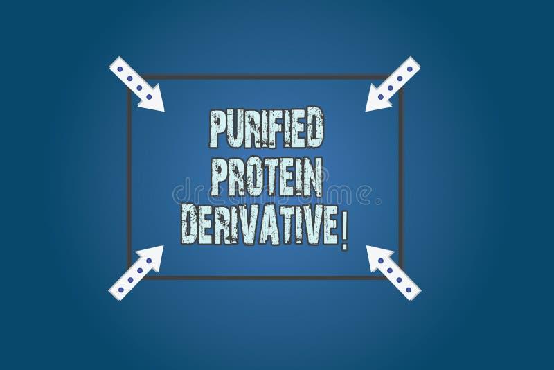 Escritura conceptual de la mano que muestra el derivado purificado de la proteína Texto de la foto del negocio el extracto de cua ilustración del vector