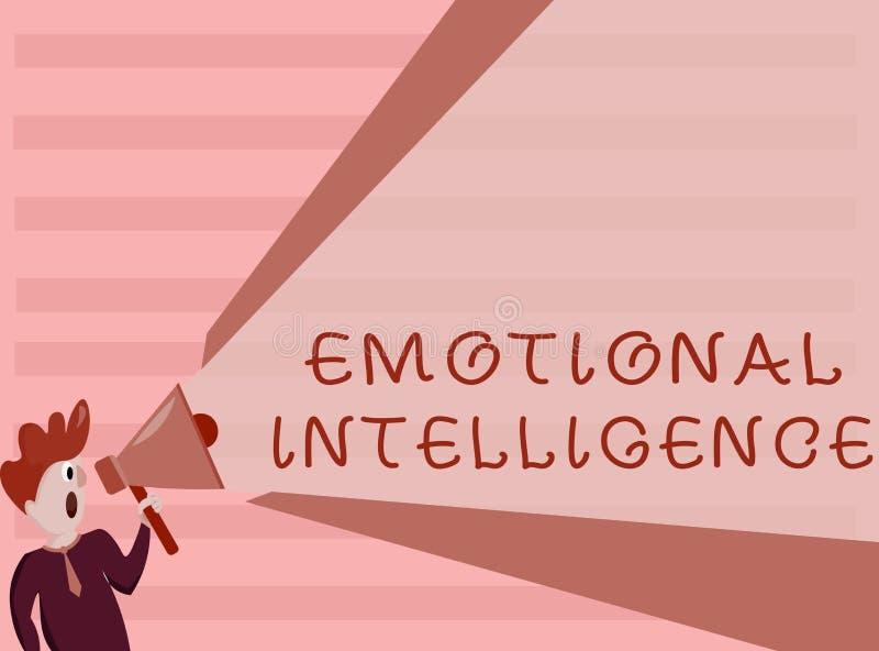 Escritura conceptual de la mano que muestra inteligencia emocional El uno mismo de exhibición de la foto del negocio y la concien libre illustration