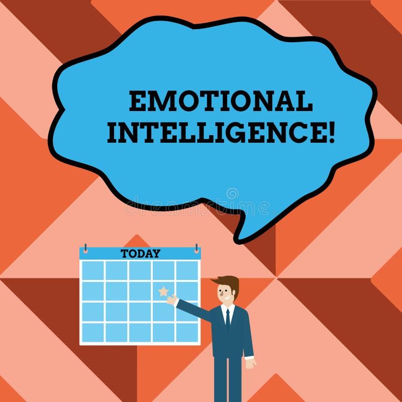 Escritura conceptual de la mano que muestra inteligencia emocional Manija del uno mismo del texto de la foto del negocio y de la  libre illustration