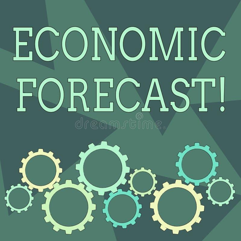 Escritura conceptual de la mano que muestra intentar de exhibición previsto económico de la foto del negocio predecir la condició stock de ilustración
