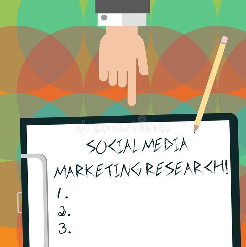 Escritura conceptual de la mano que muestra medios estudio de mercados social Página web del texto de la foto del negocio en líne fotografía de archivo