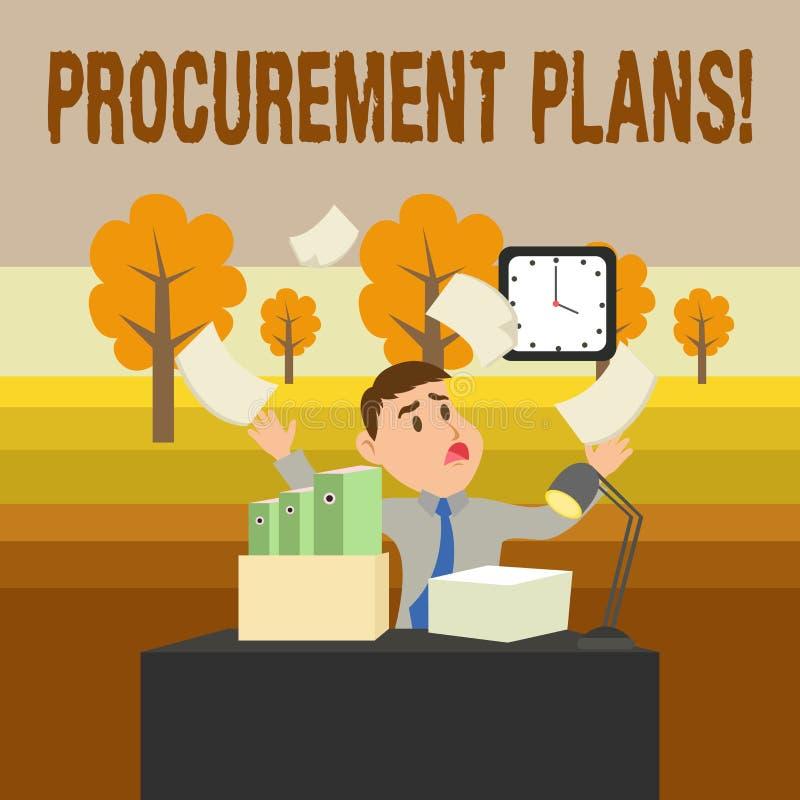 Escritura conceptual de la mano que muestra planes de la adquisición Foto del negocio que muestra determinando los calendarios pa stock de ilustración