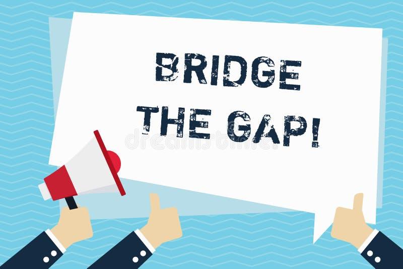 Escritura conceptual de la mano que muestra a puente Gap El texto de la foto del negocio supera los obstáculos desafía la capacit libre illustration