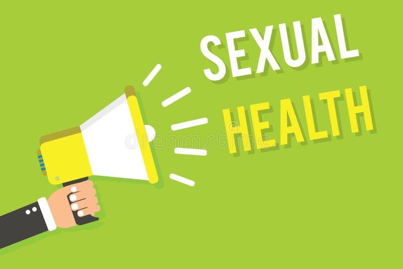 Escritura conceptual de la mano que muestra salud sexual Relaciones positivas mA de una vida sexual satisfactoria más sana del cu libre illustration
