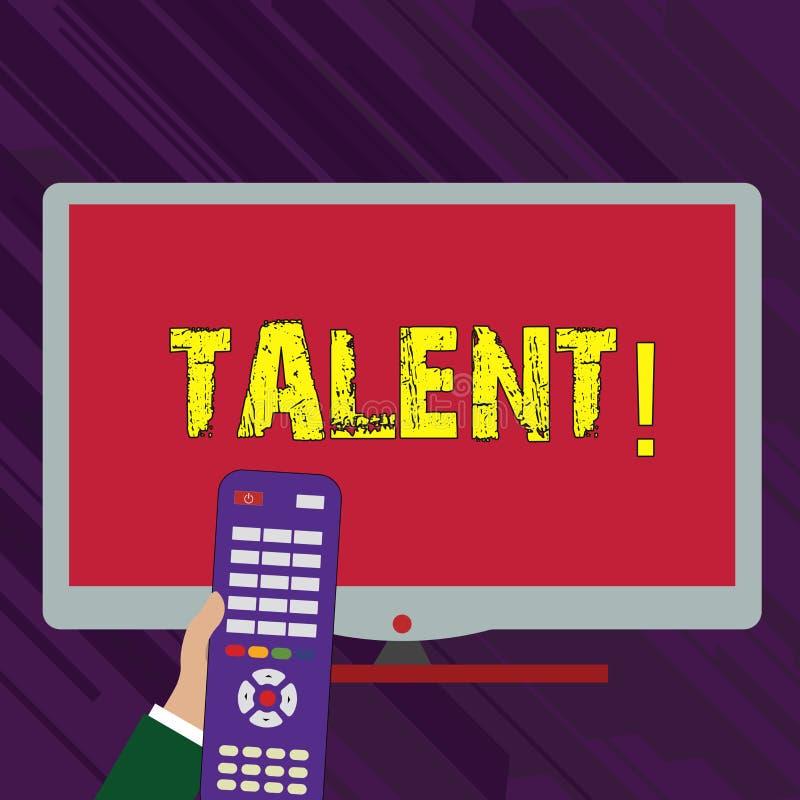 Escritura conceptual de la mano que muestra talento Las capacidades naturales del texto de la foto del negocio de mostrar la demo stock de ilustración