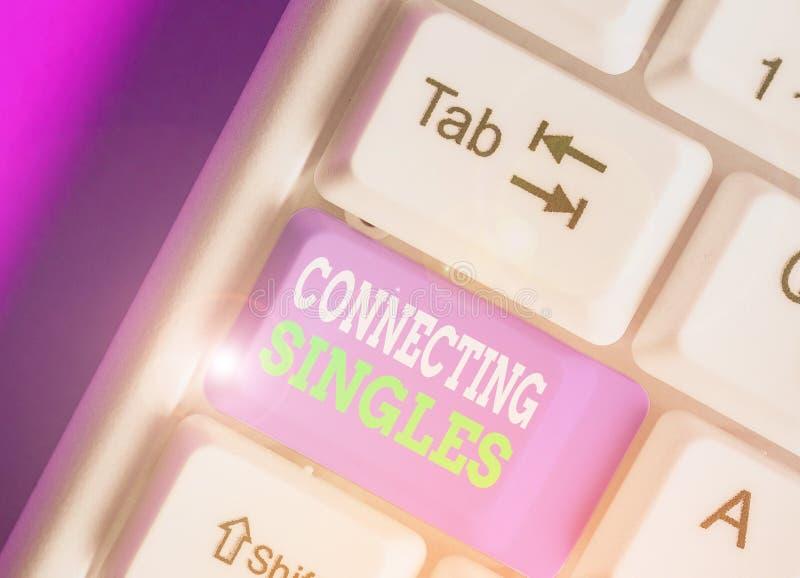Escritura conceptual a mano mostrando Connecting Singles Sitio de citas en línea de texto de fotos de negocios para solteros sin  imagenes de archivo