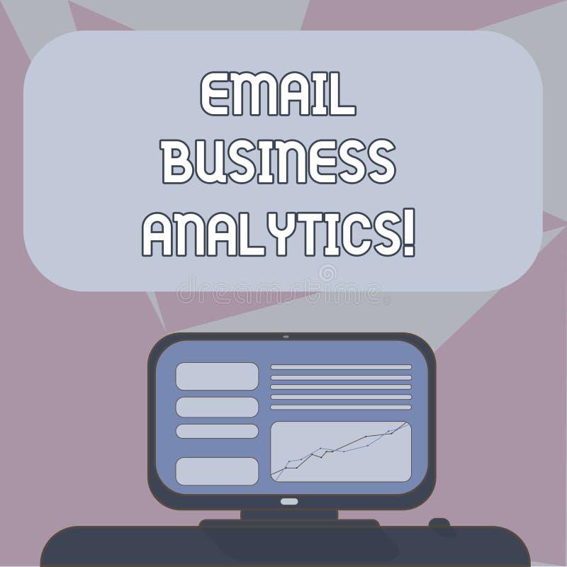 Escritura de Analytics del negocio del correo electrónico de la demostración de la nota Foto del negocio que muestra para analiza libre illustration