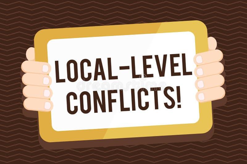 Escritura de conflictos del nivel local de la demostración de la nota Foto del negocio que muestra creando incentivos locales pa ilustración del vector