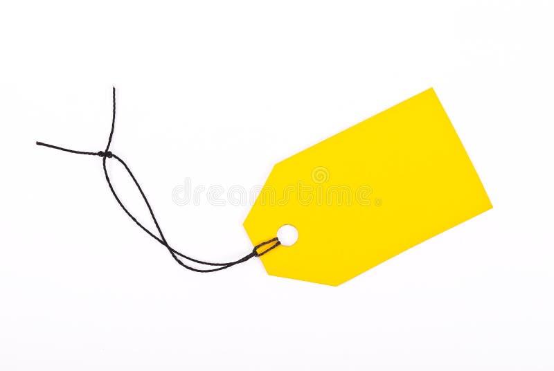 Escritura de la etiqueta amarilla del departamento imagen de archivo libre de regalías