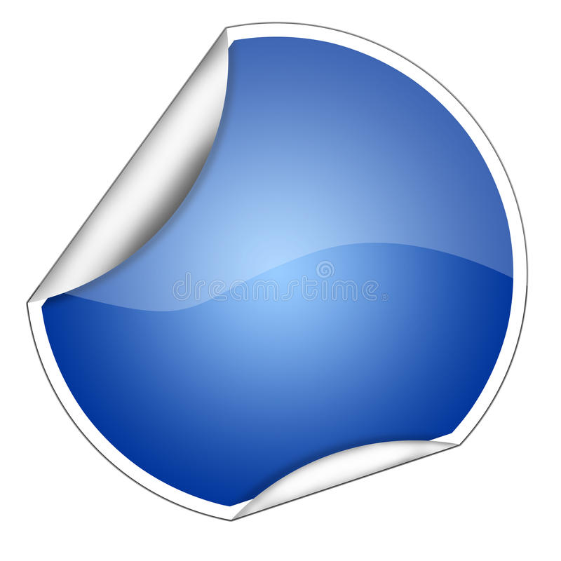 Escritura de la etiqueta azul. ilustración del vector
