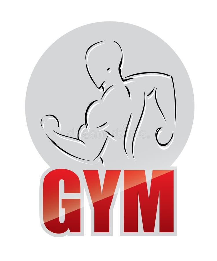 Escritura de la etiqueta Bodybuilding libre illustration