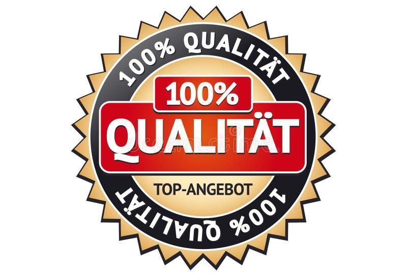Escritura de la etiqueta de la calidad stock de ilustración