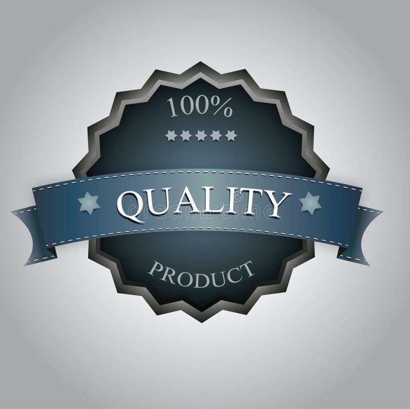 Escritura de la etiqueta de la calidad ilustración del vector