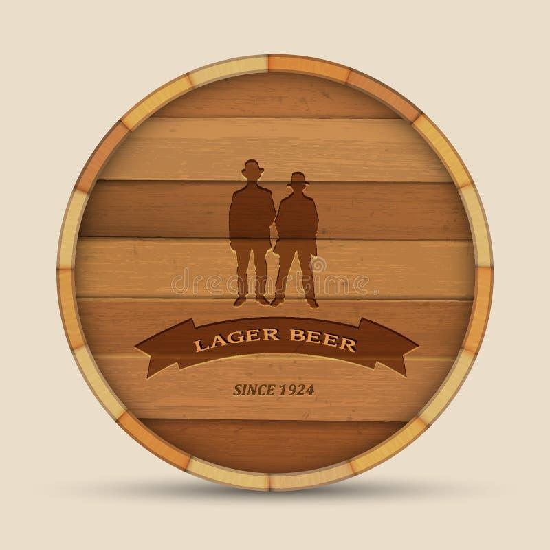 Escritura de la etiqueta de la cerveza del vector stock de ilustración