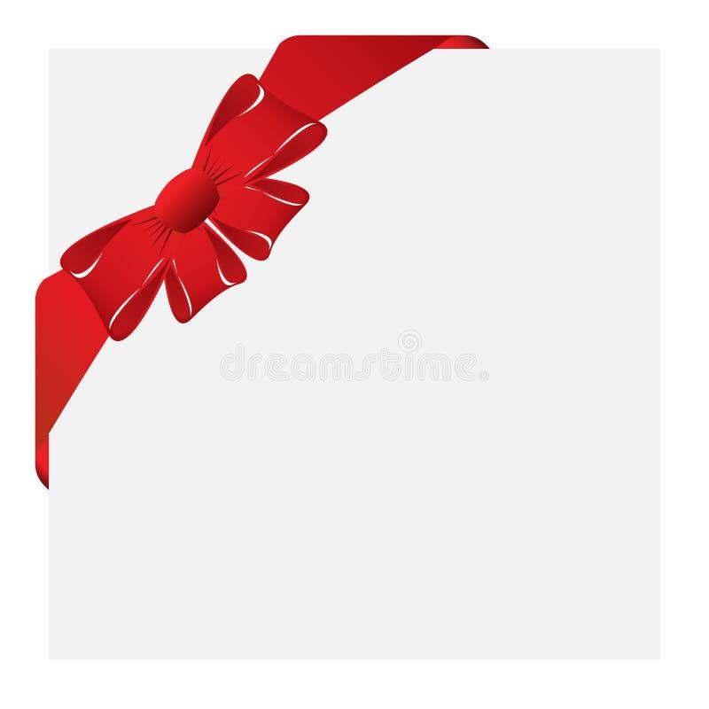Escritura de la etiqueta de la esquina de la Navidad stock de ilustración