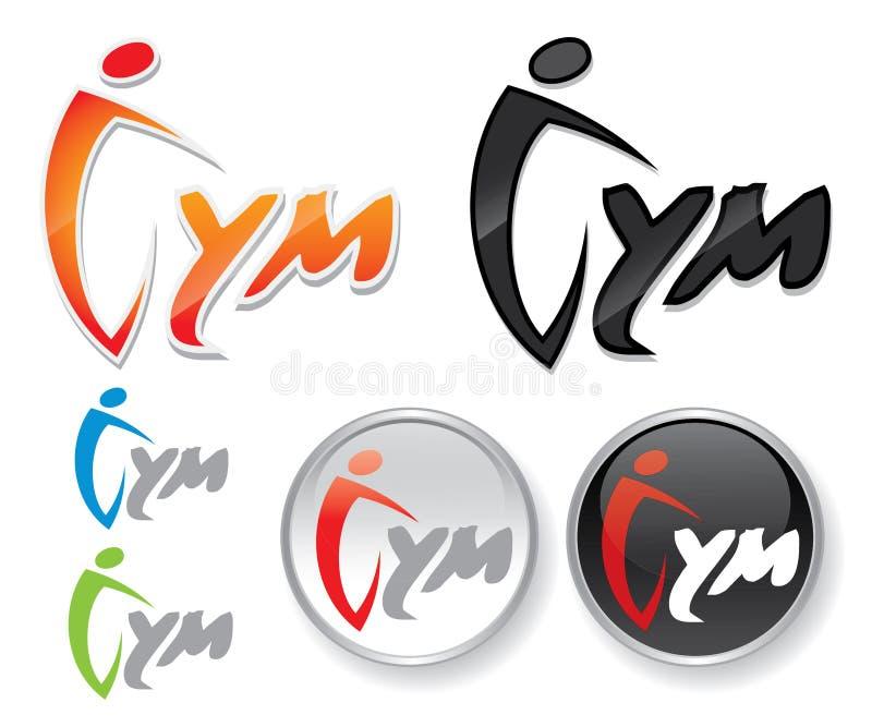 Escritura de la etiqueta de la gimnasia libre illustration