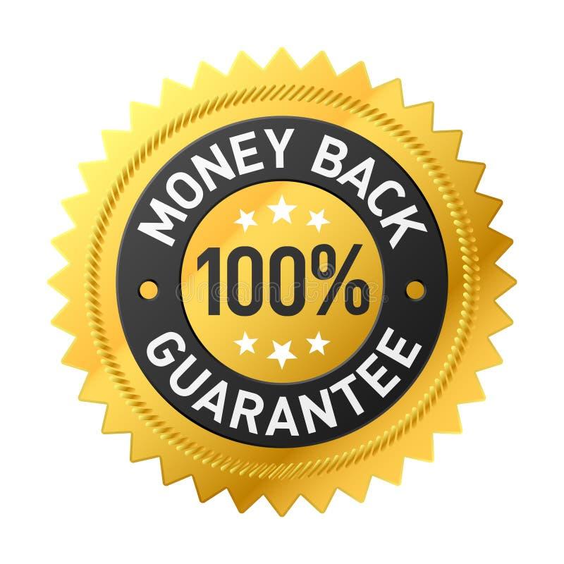 Escritura de la etiqueta de la parte posterior del dinero del vector stock de ilustración
