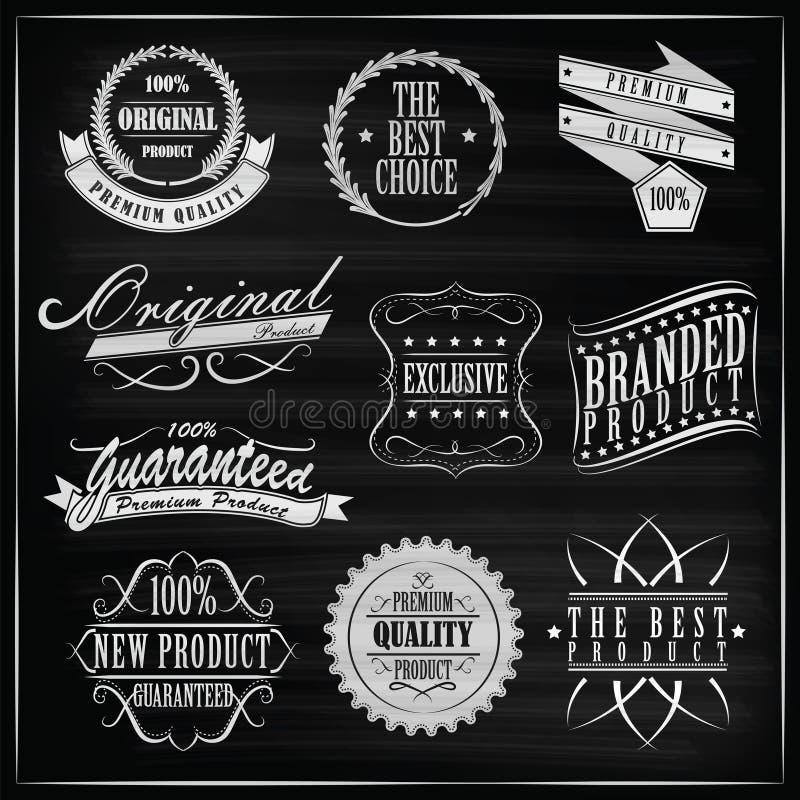 Escritura de la etiqueta de la vendimia stock de ilustración