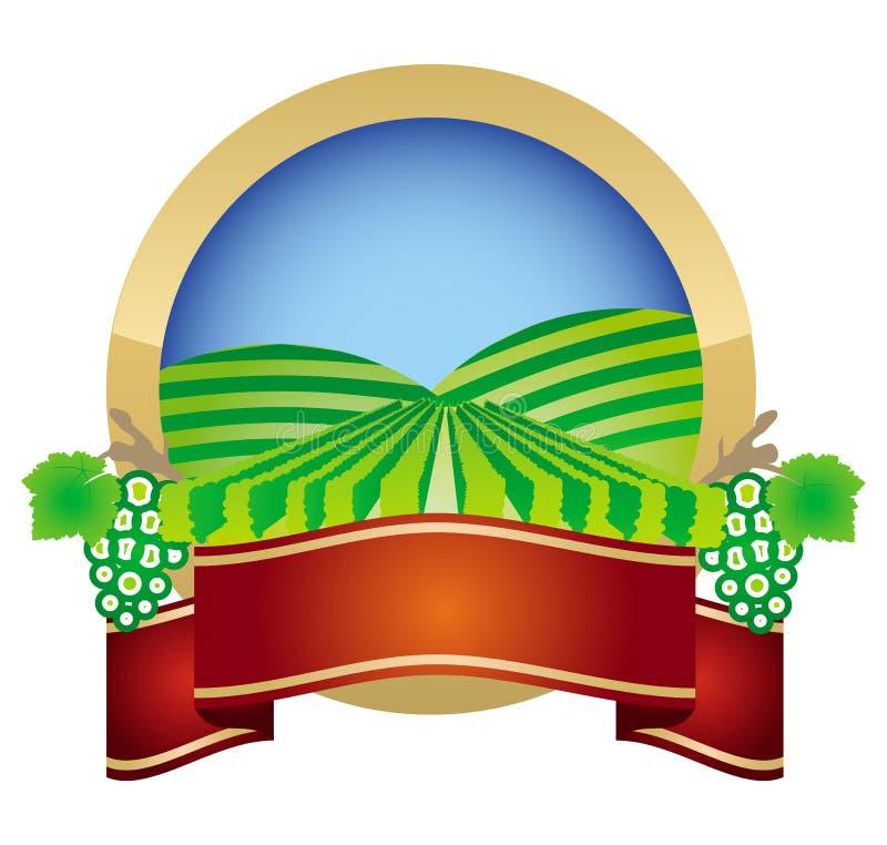 Escritura de la etiqueta de la viticultura stock de ilustración