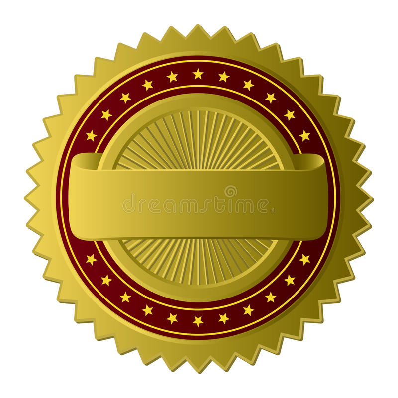 Escritura de la etiqueta de oro libre illustration