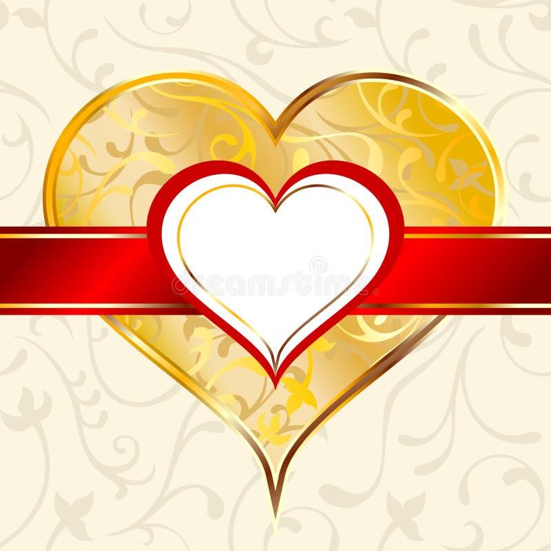 Escritura de la etiqueta del corazón libre illustration