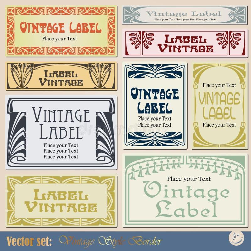 Escritura de la etiqueta del marco de la vendimia libre illustration
