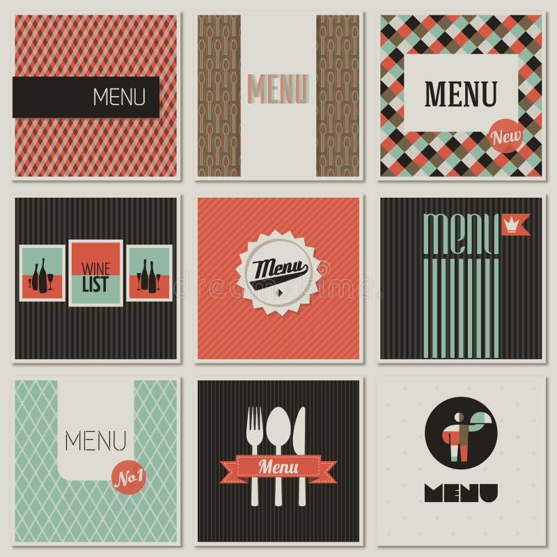 Escritura de la etiqueta del menú en un fondo inconsútil. ilustración del vector