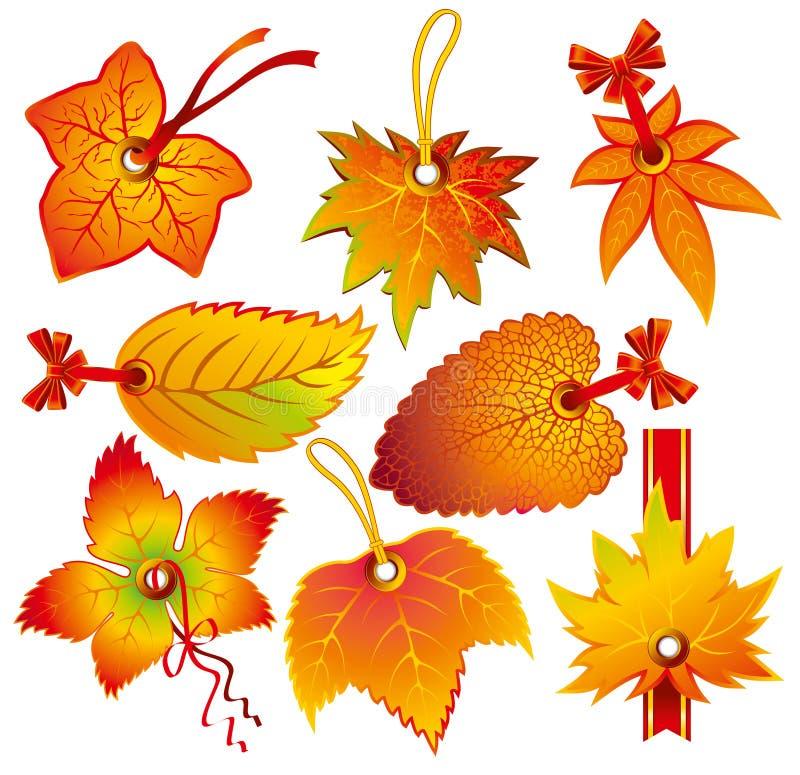 Escritura de la etiqueta del otoño libre illustration