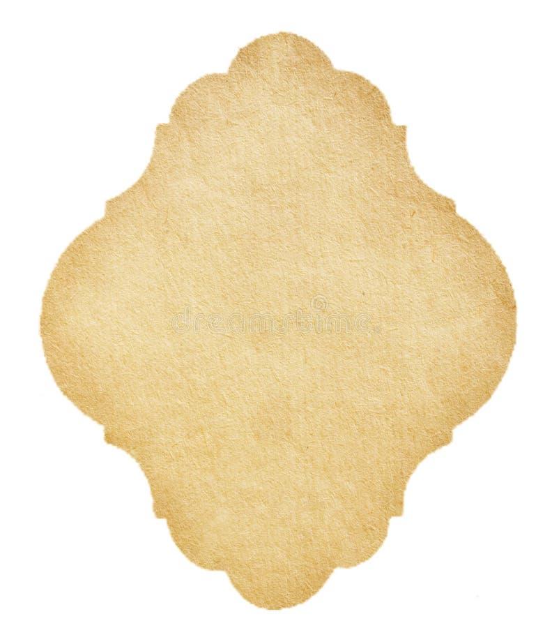 Escritura de la etiqueta del papel de la vendimia fotos de archivo libres de regalías