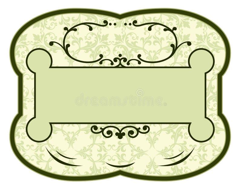 Escritura de la etiqueta del producto de la vendimia libre illustration