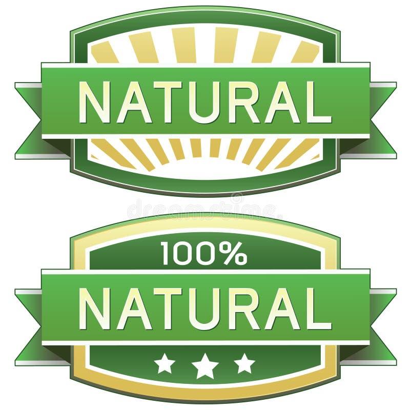 Escritura de la etiqueta del producto natural o del alimento libre illustration
